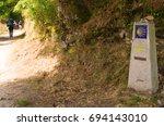 camino de santiago waymark and... | Shutterstock . vector #694143010
