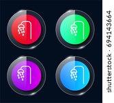 shower four color glass button...