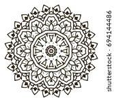 mandala. black and white... | Shutterstock .eps vector #694144486