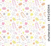 vector seamless pattern with... | Shutterstock .eps vector #694145044