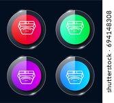 waist four color glass button...