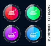 tank four color glass button ui ...
