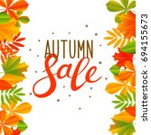 autumn background with color... | Shutterstock .eps vector #694155673
