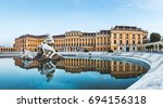 Small photo of Vienna, Austria, July 21 2017: Schonbrunn Palace, imperial summer residence in Vienna, Austria