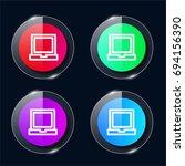 laptop four color glass button...