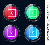 left four color glass button ui ...