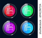 desk four color glass button ui ...
