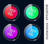 coin four color glass button ui ...
