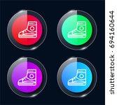 sneaker four color glass button ...