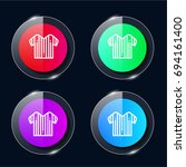 referee four color glass button ...