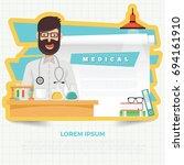 medical concept design vector | Shutterstock .eps vector #694161910