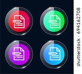 content four color glass button ...