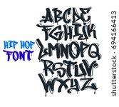 hip hop tag graffiti font | Shutterstock .eps vector #694166413