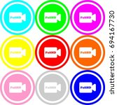 video camera icon   circle sign ...   Shutterstock .eps vector #694167730