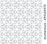 seamless geometric line grid... | Shutterstock .eps vector #694169470