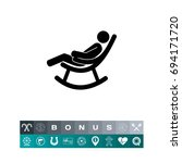 man in rocking chair icon | Shutterstock .eps vector #694171720