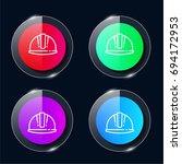 helmet four color glass button...