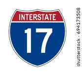 interstate highway 17 road sign | Shutterstock .eps vector #694173508