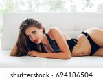 young sexy beautiful woman in... | Shutterstock . vector #694186504