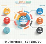 doctor and medical info graphic ... | Shutterstock .eps vector #694188790