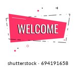 flat welcome sign. hand drawn... | Shutterstock .eps vector #694191658