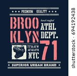 vintage urban typography with...   Shutterstock .eps vector #694192438