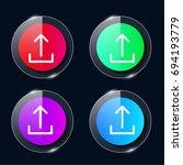 upload four color glass button...