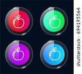 apple four color glass button...