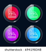 metro four color glass button...