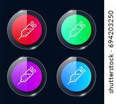 syringe four color glass button ...