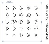 vector arrow icons set