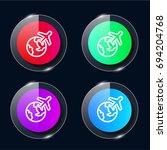 travel four color glass button...