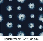 vector tie dye shibori print.... | Shutterstock .eps vector #694205533