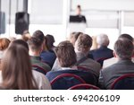 business conference and...   Shutterstock . vector #694206109
