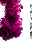 purple ink in water isolated on ... | Shutterstock . vector #694208320