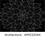 leaf background   illustration... | Shutterstock .eps vector #694210264