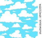 seamless pattern. hand painted... | Shutterstock . vector #694213594