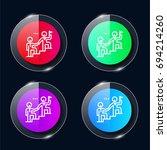leadership four color glass...