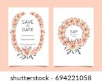 wedding invitation card... | Shutterstock .eps vector #694221058
