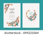 wedding invitation card... | Shutterstock .eps vector #694221064