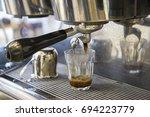 espresso machine making... | Shutterstock . vector #694223779