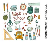 back to school | Shutterstock .eps vector #694237966