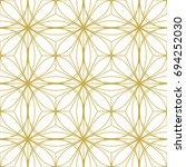 art deco seamless background. | Shutterstock .eps vector #694252030