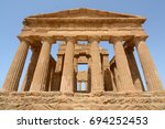 the valley of the temples of... | Shutterstock . vector #694252453