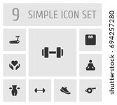 set of 9 training icons set... | Shutterstock .eps vector #694257280