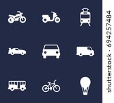 set of 9 traffic icons set... | Shutterstock .eps vector #694257484