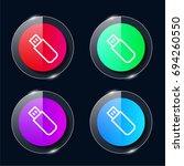 flash drive four color glass...