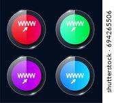 website four color glass button ...