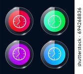 round wall clock four color...