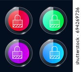 locked four color glass button...